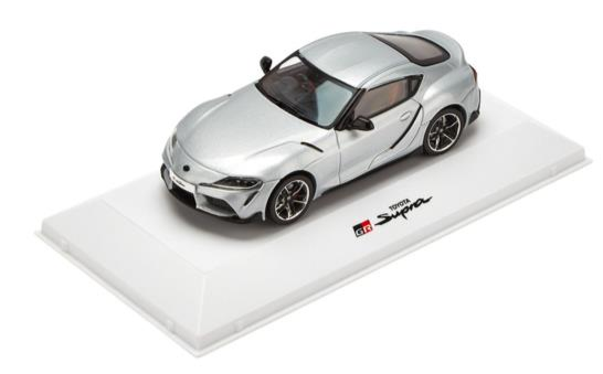 2019 1:43 Toyota Gazoo Racing GR Supra road car silver metallic 1/43 scale model 2