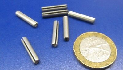 """Zinc Plate Steel, Slotted Roll Spring Pin, 1/8"""" Dia x 11/16"""" Length, 250 pcs 8"""