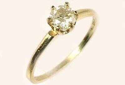 Antique 19thC ½ct Siberia Diamond Medieval Royal Gem Fearless Virtue Emblem 14kt 3