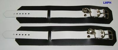 Komplettes Fessel-Set Hals-Hand-Fußfesseln-Ketten und Maske in Farben-Varianten