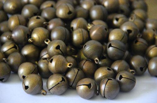 Wholesale Bronze Metal Brass Jingle Bells Pendant Charm Craft Beads Making DIY 3
