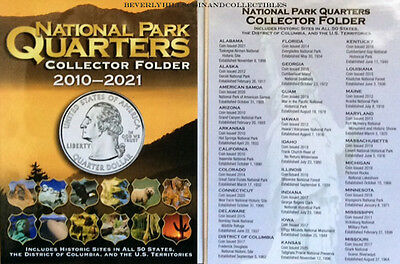 One set of Whitman National Park Quarters Coin Folders #1/&2 2010-2021 #2876/&2877
