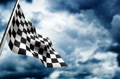 Giant Black & White Check Chequered Ska F1 Nascar Car Racing Flag Lewis Hamilton 10