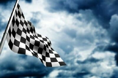 Giant Black & White Check Chequered Ska F1 Nascar Car Racing Flag Lewis Hamilton 5