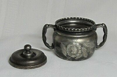 Wilcox Silverplate, Repousse Victorian Table Set, Etched Floral  Pattern~~