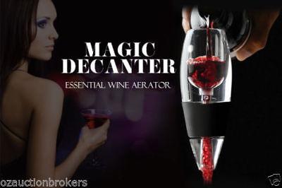 AU Magic Decanter Essential RED Wine Aerator and Sediment Filter