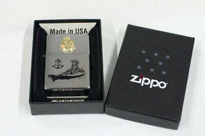 Zippo Oil Lighter Japanese Navy Battleship Yamato Silver Type 3 Gold Moth F//S