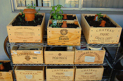 Wooden Wine Box Crate for Vintage Shabby Chic Home Storage *//* 12 bottle size