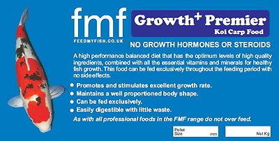 Koi Carp Pond Food FMF Growth Premier + 2kg Bucket 6mm Pellets 3