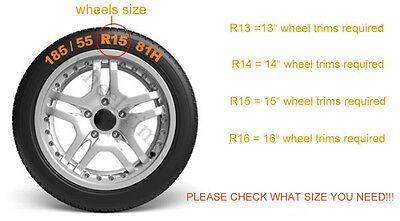 "Set of  4x16"" wheel trims to fit  Vw Beetle,Golf,Passat 3"