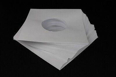 """McDAISON 300pz Busta bianca nuova FORATA CARTA SPESSA DELUXE x dischi 45 giri 7"""" 4"""