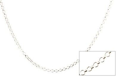 Solid 925 Sterling Silver 3.2mm Italian Round Rolo Cable Link Chain Anklet Fine Anklets Jewelry & Watches