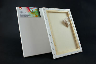 Canvas Artist Stretched Acrylic Primed Box Framed Cotton Art Craft Blank Chunky 2