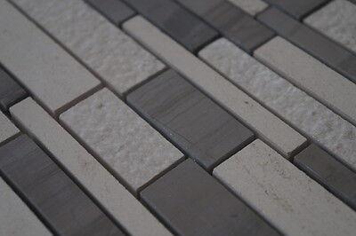 Mosaik Matte Marmor Naturstein Fliesen Yawood Grau Beige Creme Weiss