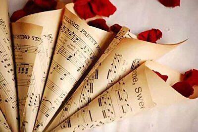 100pz Cono Coni Festa Matrimonio Porta Petali Confetti Tema Musica Materiale