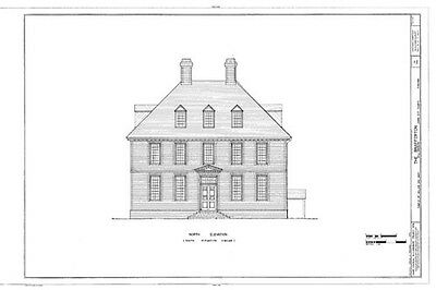 Authentic Williamsburg Colonial House, architectural home plans 4