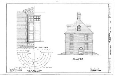 Authentic Williamsburg Colonial House, architectural home plans 5