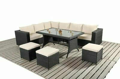 9 Seater Rattan Garden Furniture Sofa Dining Table Set Conservatory Outdoor 2