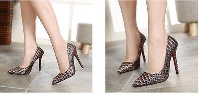 ... stiletto Scarpe decolte eleganti donna tacco spillo 11 verde comode  9316 6 7b0f7bbc9d3