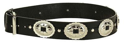 Western Large Concho Genuine Leather Belt Punk Goth Rockabilly Bikers Metal Rock