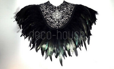 Rooster Rare Feathers Coque Fringe Craft Trim Sewing Costume Millinery Collar 8
