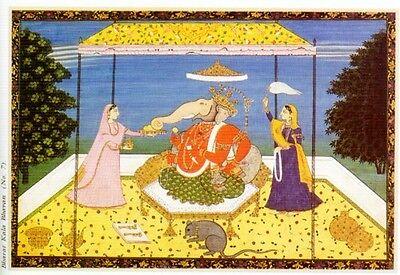 Indian Miniature Painting Color Rajasthani Mughal Deccani Pahari Manuscripts Pix 9