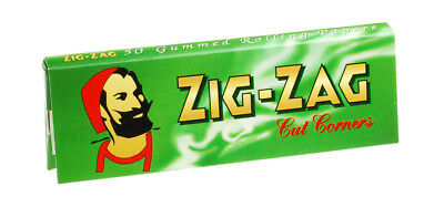 Full Box of 100 Booklets Zig Zag Tobacco Rolling Papers Green Cut Corner  £10.90 2