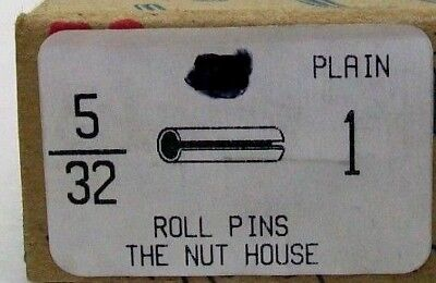 "Pack Of 25 Nos 5/32"" X 1"" Plain Steel Spring Roll Pins Slotted Free Ship Nh 8"