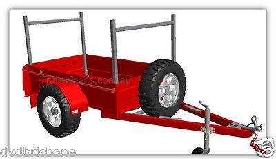 Trailer Plans - 2500kg FLATBED, BOX & MOTORBIKE TRAILER PLANS - Plans on CD-ROM 5