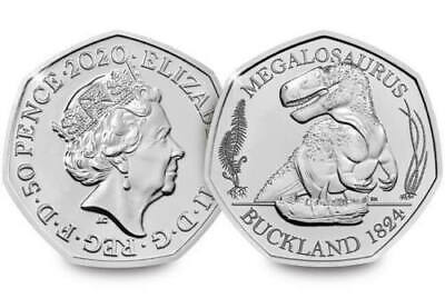 2020 Megalosaurus Dinosaur 50p Fifty Pence Coin CERTIFIED  Brilliant Unc ISSUE 1 3
