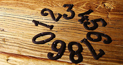 Cast Wrought Iron Black Antique House Door Alphabet Letters and Numbers HOT