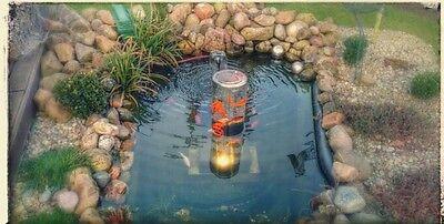 2 Von 8 Design Top Teich Glas Fischturm Fischsäule Goldfischrohr Gartenteich