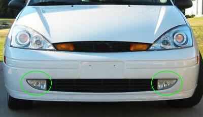 Fits 2000-2004 Ford Focus Driver + Passenger Side Fog Light Lamp Assembly 1 Pair 3