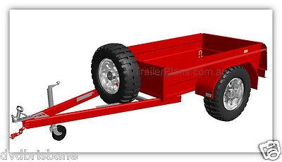 Trailer Plans - 2500kg FLATBED, BOX & MOTORBIKE TRAILER PLANS - Plans on CD-ROM 6