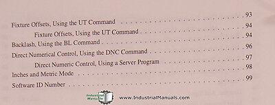 FADAL GIDDINGS & Lewis, VMC Series, Operations Manual Year (1997)
