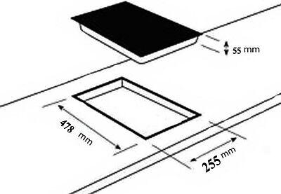 gaskochfeld domino einbau kochfeld glas gaskocher 2 flammig autark lpg edrgas eur 112 77. Black Bedroom Furniture Sets. Home Design Ideas