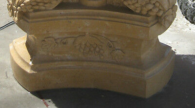 Set of 2 Hand Carved Henan Yellow Marble Planter 4