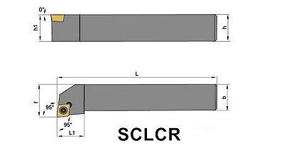 SCKCR1616H09 16mmSHK×100mm External Turning Tool Holder for CCMT09T304 CCMT3251