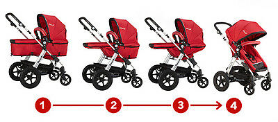New 2 In 1 Baby Toddler Pram Stroller Jogger Aluminium With Bassinet 5 Colors 4