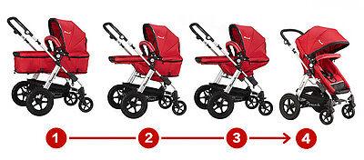 New 2 In 1 Baby Toddler Pram Stroller Jogger Aluminium With Bassinet 5 Colors 4