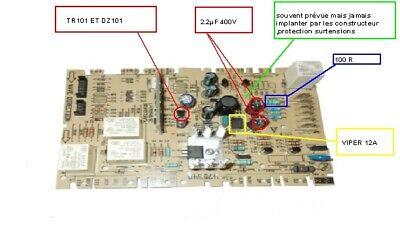ROSIERES DE04 DWV11// CDP1D54X-47 CARTE LAVE VAISSELLE CANDY CDP1D54X-47