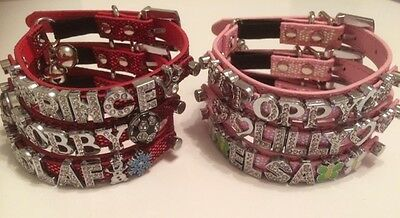 PERSONALISED Cat/Kitten Collar. With SAFETY ELASTIC and RHINESTONE BLING BUCKLE 2