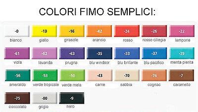 Panetto 57 gr. FIMO SOFT Pasta Modellabile 30 COLORI BASE *Sped.Tracciata* 2