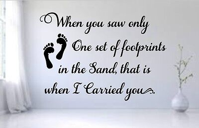 Footprints in the Sand Wall or Window Decal