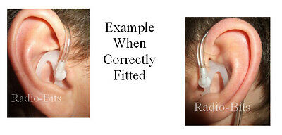 Small Left Airwave Police Acoustic earpiece ear mould TWIN PACK Small Right