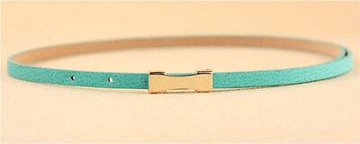 Ladies Slim Fashion Waist Belt Dress Access Thin Skinny PU Leather Belt Women 6