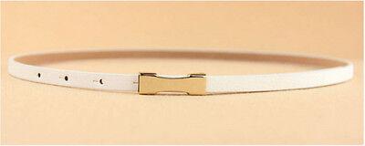 Ladies Slim Fashion Waist Belt Dress Access Thin Skinny PU Leather Belt Women 8