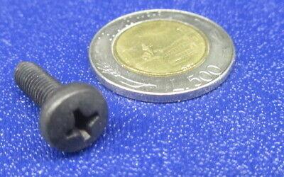 Pan Head Metric Machine Screw 18-8 Stainless Black Oxide M2.5 x 4 mm L 100 Pcs