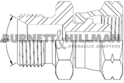 "Burnett & Hillman BSP 3/8"" Male x M14 Swivel Female 1.5mm Pitch Adaptor | 01504"