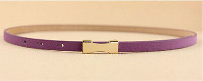 Ladies Slim Fashion Waist Belt Dress Access Thin Skinny PU Leather Belt Women 10